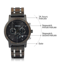 Load image into Gallery viewer, Wooden Mens Business Quartz Watches
