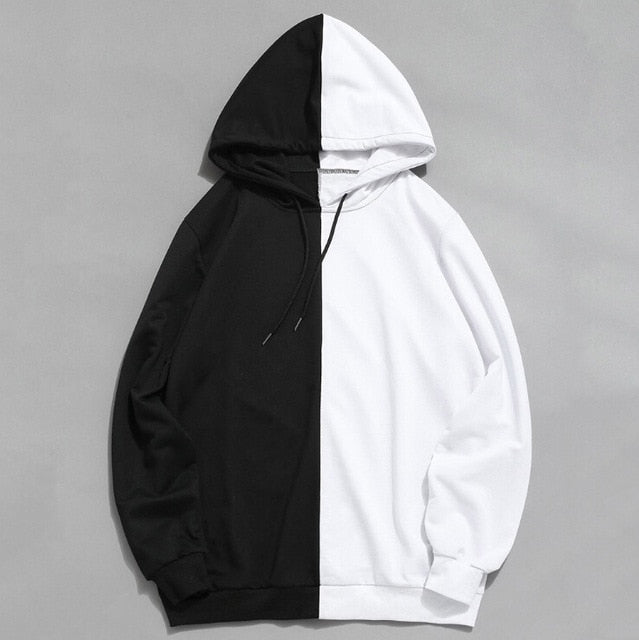 Men's Two-Tone Cotton Hooded Jackets