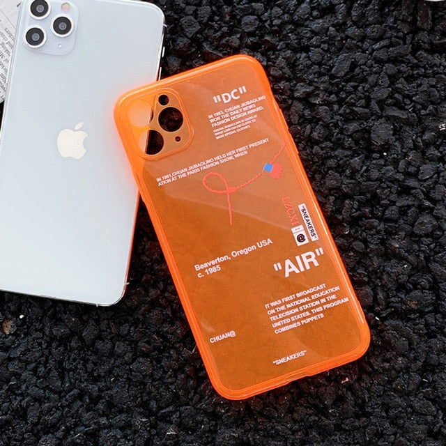 Fluorescence Sport Phone Case for iPhone 11 Pro X XS MAX XR 7 8 6 Plus