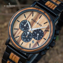 Load image into Gallery viewer, Men's Wooden Quartz Wristwatch In Gift Box
