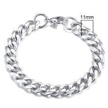 Load image into Gallery viewer, Unisex Simple 3-11mm Stainless Steel Link Chain Bracelets