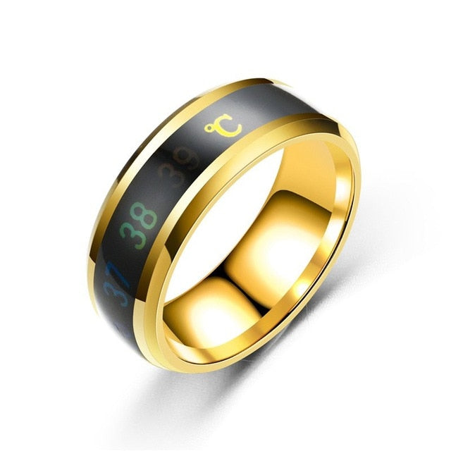 Unisex Mood Emotion Temperature Ring Titanium Steel