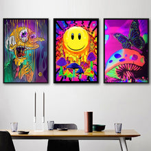 Load image into Gallery viewer, Blacklight Canvas Art Posters