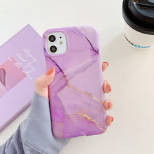 Load image into Gallery viewer, Colorful Marble Crack Matte Phone Cases For iphones