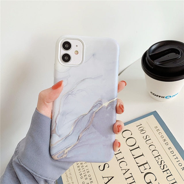 Colorful Marble Crack Matte Phone Cases For iphones