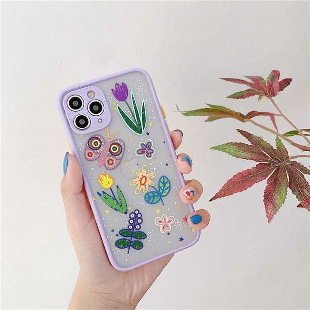 Luxury 3D Relief Flower Case For iPhones