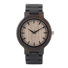 Load image into Gallery viewer, Mens Analog Quartz Lightweight Vintage Wristwatch with Wooden Gift Box