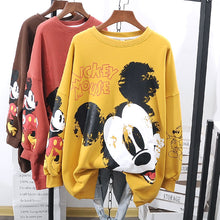 "Load image into Gallery viewer, Oversized Ladies ""Mickey Mouse Sweatshirts"
