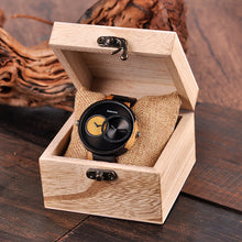 Load image into Gallery viewer, Multi Time Zone Wooden Quartz Watches In Wood Box