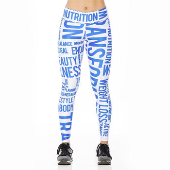 Sublimated Leggings Blue\White