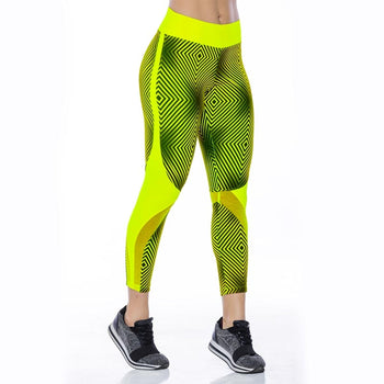 Stamped Leggings Green