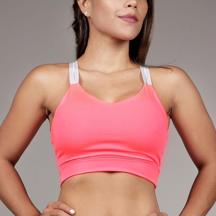 Sports Bra Pre Shaped Salmon