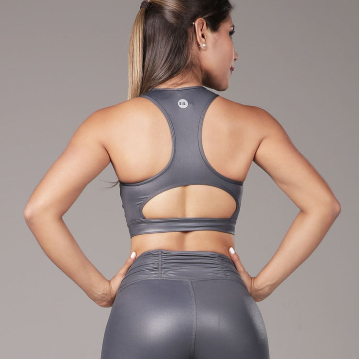 Sports Bra Laser Cut Gray