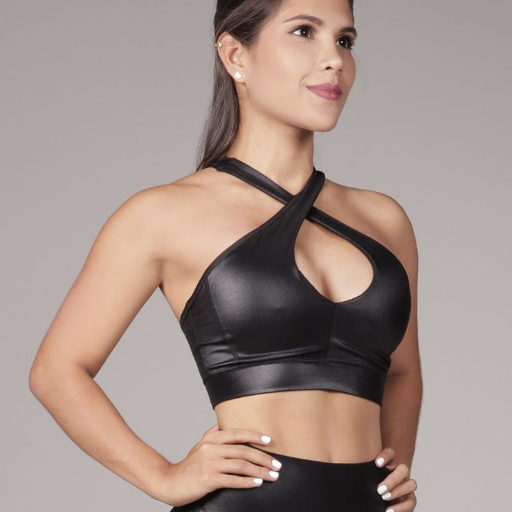 Cross Sports Bra Black