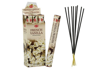 HEM French Vanilla Hexa 6 Pack 120 Incense Sticks