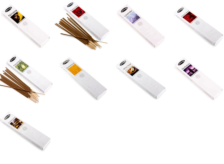 Nitiraj Assorted 100% Natural Incense Sticks 10 Packets 25 GMS per Packet Total 250 GMS