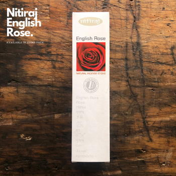 English Rose - Nitiraj Platinum 100% Natural Incense