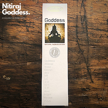 Goddess - Nitiraj Platinum 100% Natural Incense