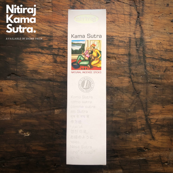 Kama Sutra - Nitiraj Platinum 100% Natural Incense