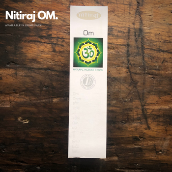 Om - Nitiraj Platinum 100% Natural Incense