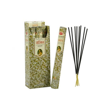 HEM Precious Jasmine Hexa 6 Pack 120 Incense Sticks