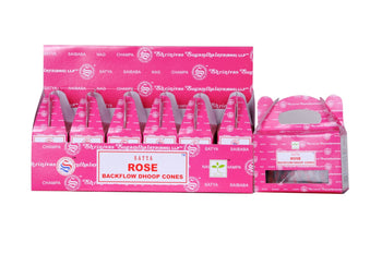 Satya Rose Backflow Dhoop Cones