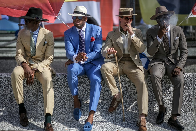The Dapper Collection mens socks fashion show italy