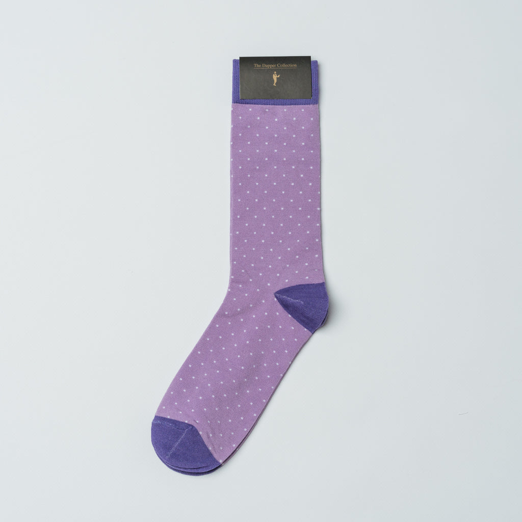 The Dapper Collection Socks Poe Polka Dots Mens Dress