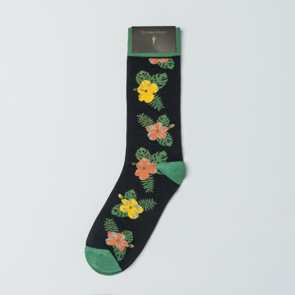 The Dapper Collection Socks Wilde Floral Mens Dress