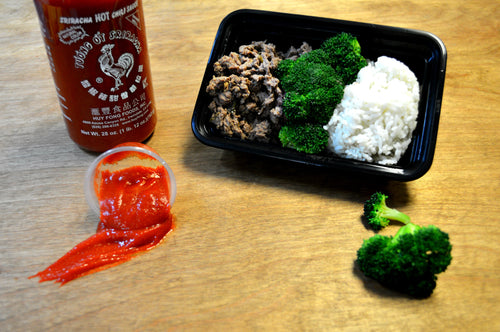 Kalbi Beef with White Rice and Broccoli