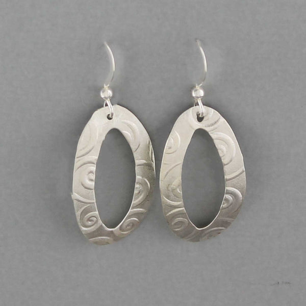 Swirl Ovals - Earrings