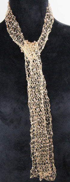 Wire Scarf-Gold