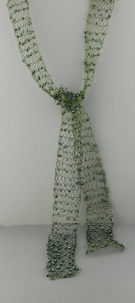 Beaded Wire Scarf-Green