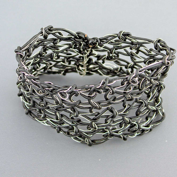 Leather and Wire Cuff