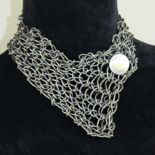 Leather and Wire Collar