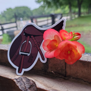 Jumping Saddle Sticker