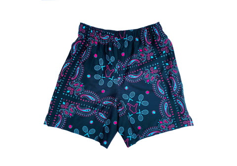 DIG 4 TRAINING SHORT (navy/pink/turquoise)