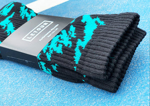 Dig 3 Socks (Black N Green)