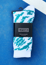 Dig 3 Socks (White N Green)