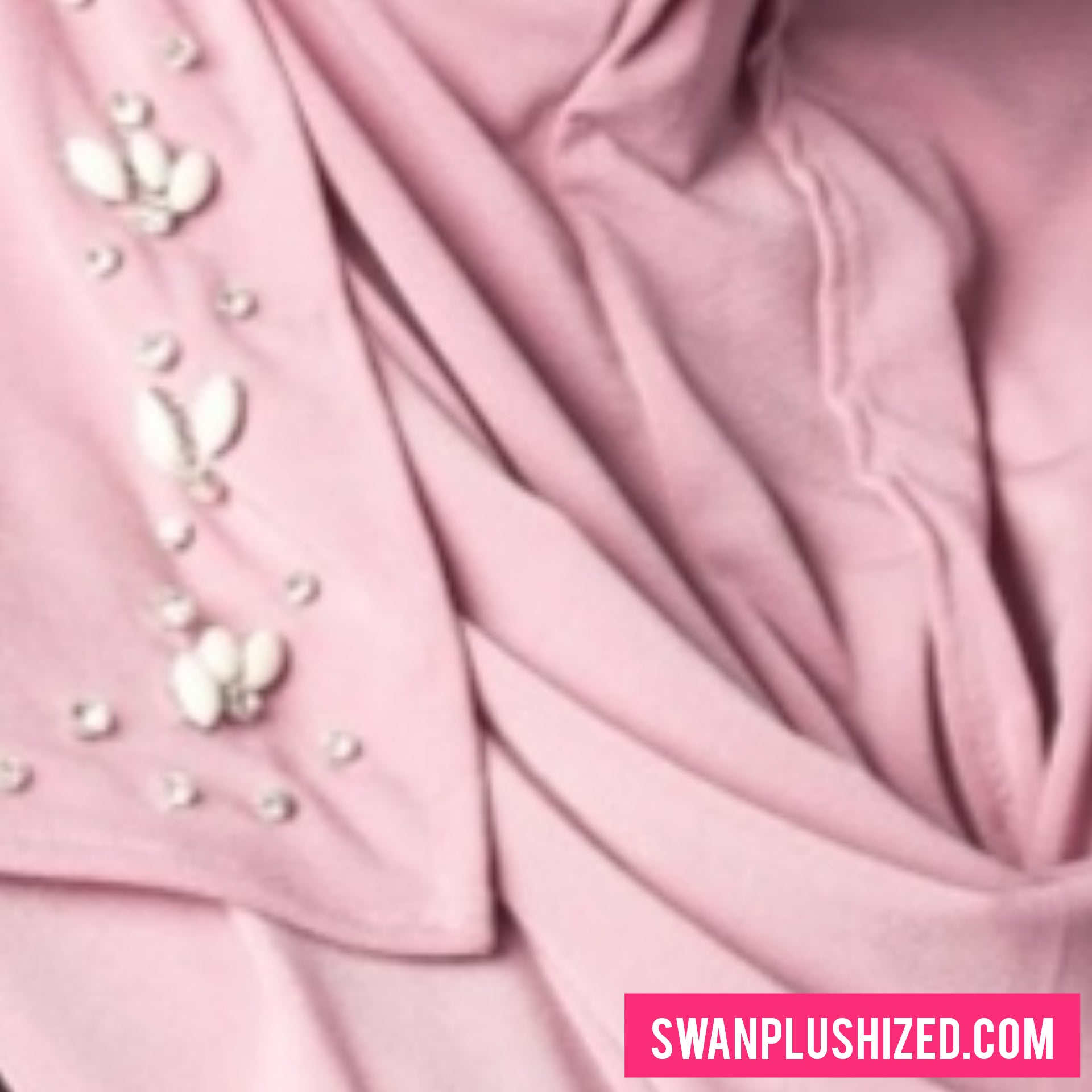 Beads Instant Shawl - Light Lavender