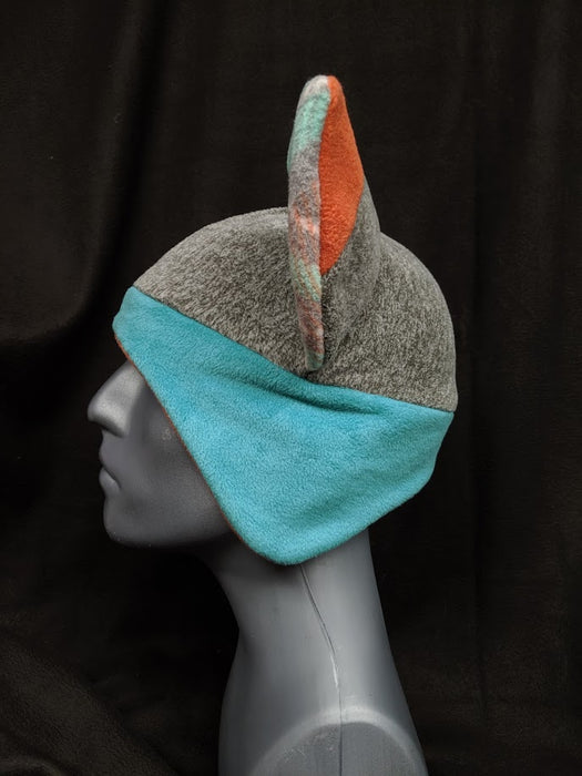Blue and Orange Fox Hat