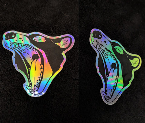 Holographic DK Mouth Logo Sticker
