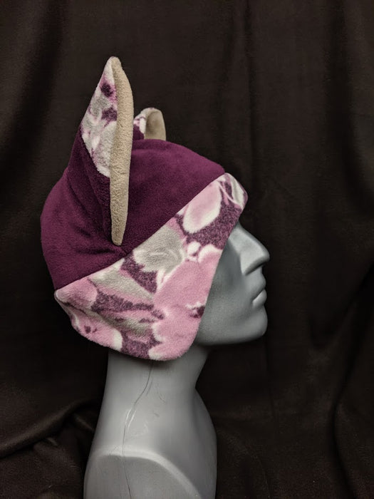 Dark Purple Floral Fox Hat
