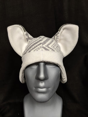 Grey Patterned Fox Hat