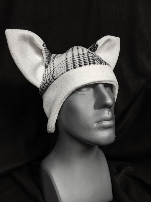 White Plaid Fox Hats