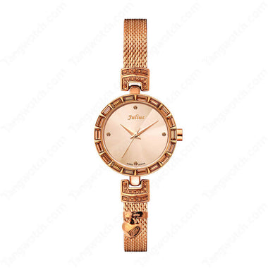 Julius IP Silver Alloy Case Alloy Band Ladies Fashion Casual Watch TW019-JA-491C