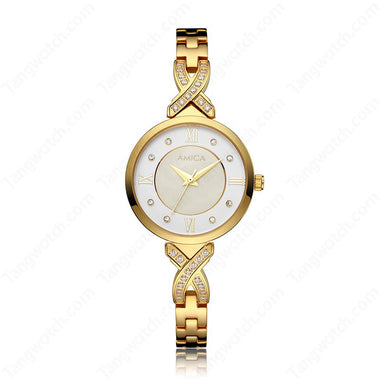 AMICA Golden Stainless Steel Trendy Ladies Watches TW015-2465-5