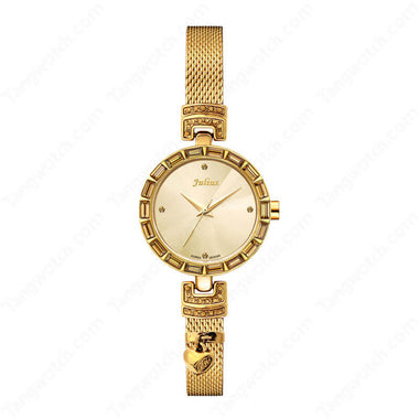 Julius IP Golden Alloy Case Alloy Band Ladies Fashion Casual Watch TW019-JA-491D