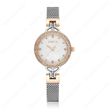AMICA Stainless Steel Case Silver Band Causal Ladies Watches TW015-2470-2