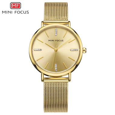 MINI FOCUS Japan Movement IP golden plating Lady's Watches TW032-MF0036L
